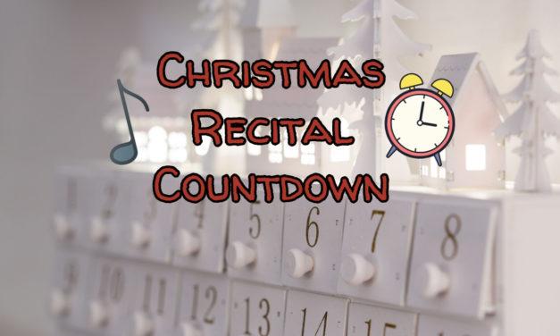 Christmas Recital Countdown