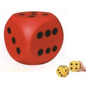 Rubber Dice to Use in the Piano Practice Game