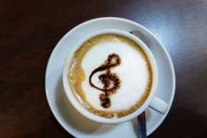 A cup of Musical Mocha